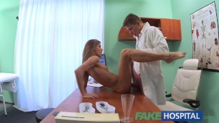 Fake Hospital Doctor fucks patients tight pussy to cure his hangover Big fuck