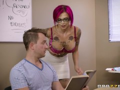 Naughty teacher Anna Bell Peaks loves cock - Brazzers