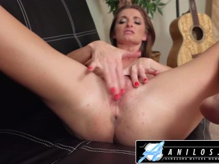 Anilos - Hot Mom Strips Down To Finger Her Pussy