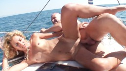 Sex in a boat with a hot skinny cuban girl