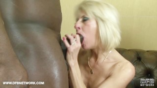 Blonde matures facials and swallow in hardcore interracial group sex