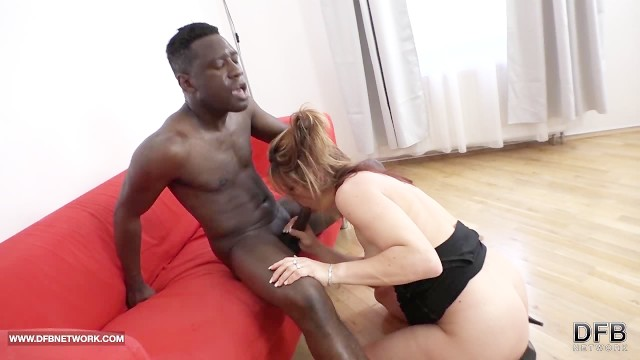 My step mom fucks my black teacher swallows his cum after blowjob