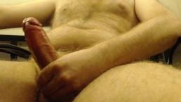 Wanking my uncut cock in front of webcam