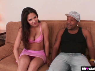 BrokenTeens - Jades delighted to take care of Macs huge dick