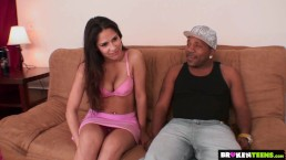 BrokenTeens - Jade's delighted to take care of Mac's huge dick