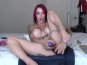 Panty Stuffing With My New Purple Toy