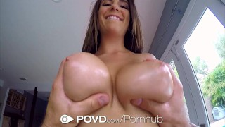 POVD Stunning Layla London big tits massage in POV  babe pussy-licking hd point-of-view blowjob pov massage oiled busty hardcore natural-tits brunette titty-fucking povd