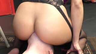 Mercedes Carrera Facesitting & Ass Worship Femdom  ass worship big tits face sitting asslicking facesitting femdom mom meanbitches kink butt latina mother assworship latin faceriding fake tits big booty latina mercedes carrera