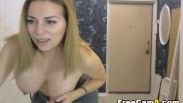 Hot MILF Daring Flashing Tits and Pussy