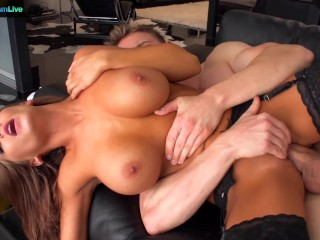 Givem Rough Anal Fucking, Huge titted Madison Ivy spreading wide for hardcore fuck