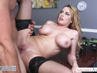 Big tits employee Corrina Blake goes out with a bang - Naughty America