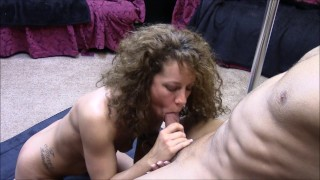 It until brunette a cock she babe makes strokes and cum sucks cumshot home