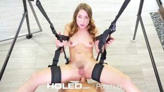 HOLED Taylor Sands asshole fucked on the sex swing  brunette anal sex sex-swing anal holed anal creampie dutch taylor-sands masturbation pussy-licking hd blowjob