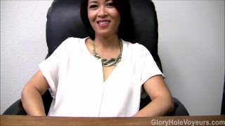 Asian Milf Gloryhole Interview Blowjob  gloryhole swallow gloryhole fuck oral fake interview cim mom masturbate gloryhole head tattoo glory hole surprise mother gloryholevoyeurs interview cum inside