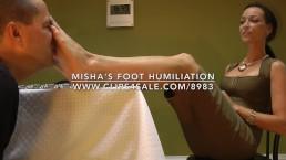 Misha's Foot Humiliation - www.c4s.com/8983/16842944