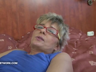 Grandma caught masturbating anal fucked by black cock hard interracial