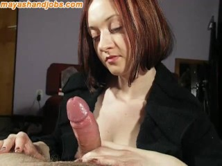 Hand jobs massive cum