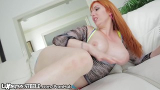 Curvy Redhead Can Barely Handle this HUGE BBC Toys tattooed