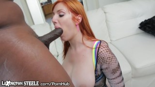 Curvy Redhead Can Barely Handle this HUGE BBC Sex cumshot