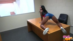 Black GF Ebony teen gets pounded in the back room