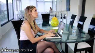 The secretary girlsway boss diving muff girl hairy