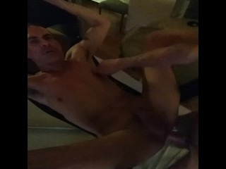 Getting fucked in a sling after a good slam