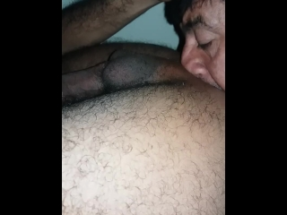 Daddy licking my hairy ass