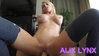 Alix Lynx - Blackmailed by Dad cumshot big-tits step-dad fake-tits blackmail-daughter kink step-daughter blonde