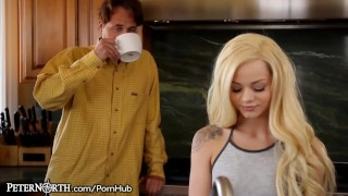 Elsa Jean Makes Stepdad her Daddy!  young stepdad daughter petite shaved teenager doggystyle teen peternorth cumshot daddy blonde