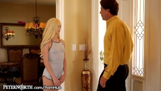 Elsa Jean Makes Stepdad her Daddy!  teen blonde peternorth cumshot daddy step-daughter young stepdad daughter petite shaved teenager doggystyle