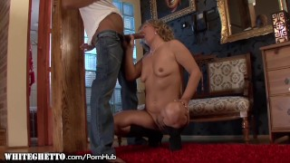 Slutty Granny Gives Rimjob and Takes it Anally