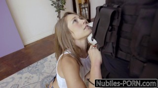 Nubiles-Porn Hot Brunette Fucks Her Way Out Of Trouble