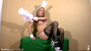 In out shemeat costume whips blonde shebabe wanks and rabbit blonde ass