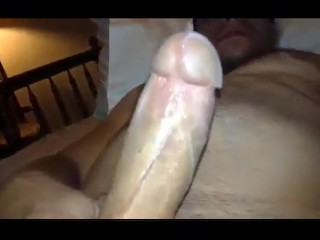 Jerking off my really hard cock and cuming