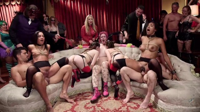 Orgy Party In Big Mansion Halloween
