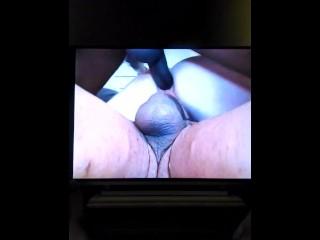 Stroking my dick