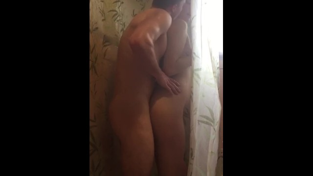 Standing in the shower masturbation - Curvy blonde babe gets fucked hard in shower
