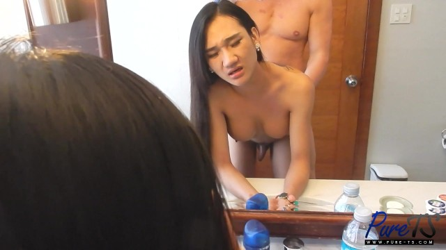 gorgeous ladyboy Pie gets fucked while getting ready