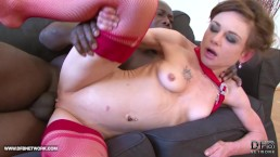 Patite mature gets her skinny ass fucked by big black dick