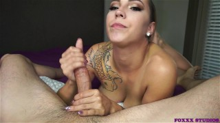 I love sucking the cum out of his cock sasha-foxxx feet swallow the-pose blowjob mark-rockwell cum-in-mouth ocp oral-creampie point-of-view pornstar
