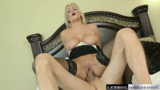 British MILF Katy fucks her way to a carloan  british hd blonde-big-tits mom blowjob pornstar cumshot big-boobs milf hardcore pornstars swallow lethalhardcore mother xxx katy-jayne
