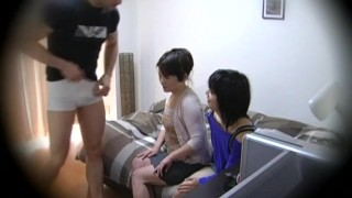 Subtitled Japanese homestay gone wrong CFNM blowjob
