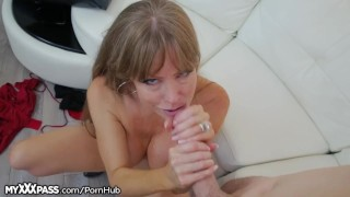 Horny Mom Gives Son-in-Law a Lesson  masturbation big-tits granny masturbate mom blowjob cumshot big-boobs milf mature cougar mother older-younger mother-in-law open mouth cumshot myxxxpass