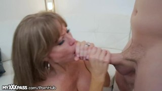 Horny Mom Gives Son-in-Law a Lesson  masturbation big-tits granny masturbate mom blowjob cumshot big-boobs milf myxxxpass mature cougar mother older-younger mother-in-law open mouth cumshot