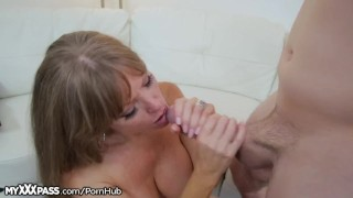 Horny Mom Gives Son-in-Law a Lesson cumshot mother open mouth cumshot granny mature milf masturbation masturbate mom blowjob cougar myxxxpass