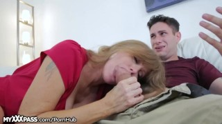 Horny Mom Gives Son-in-Law a Lesson cumshot mother open-mouth-cumshot granny mature milf masturbation masturbate mom blowjob cougar myxxxpass