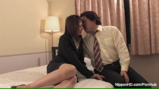 Hot Asian assistant fucks her boss in a hotel room