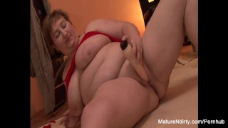 Both threesome chubby a in fucked holes gets mature chubby big