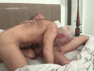 Hot Silver Daddies Allen Silver and Scott Reynolds Fuck and Breed