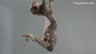 Anka the nudist showing her talent Boobs cum